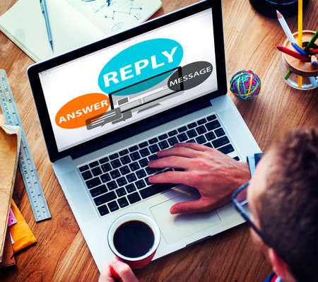 reply: Reply Answer Message Communication Feedback Concept
