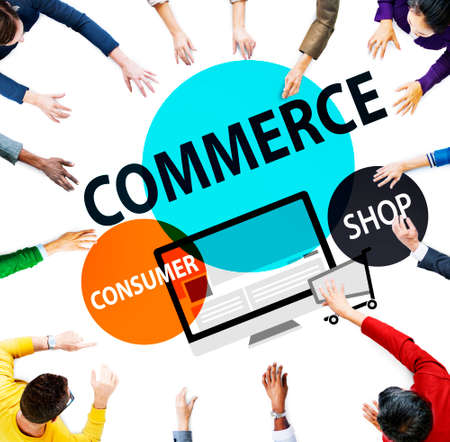commerce: Commerce Consumer Shop Shopping Marketing Concept