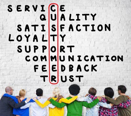 crossword: Customer Service Quality Satisfaction Crossword Puzzle Concept