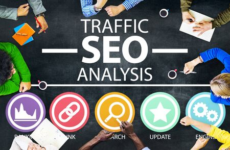 information analysis: Search Engine Optimisation Analysis Information Data Concept Stock Photo