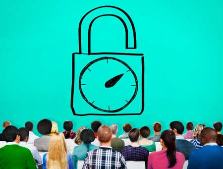 punctual: Tiempo de desbloqueo Reloj despertador puntual Cron�metro Concepto