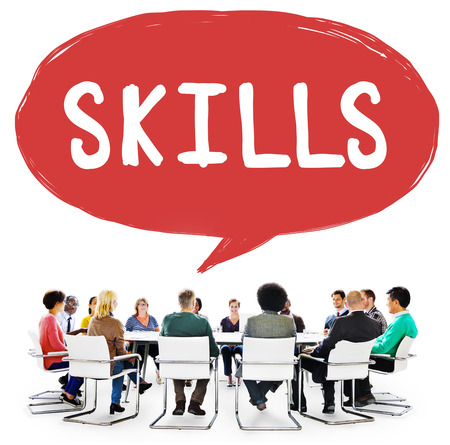 skill: Skill Ability Qualification Performance Talent Concept Stock Photo