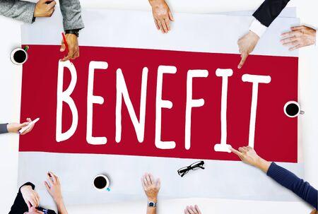 salarios: Caridad Ingresos Beneficio Beneficio Valor Salarios Bienestar Concept Foto de archivo