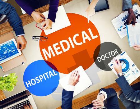 ヘルスケア: 病院医療ウェルネス ライフ コンセプト