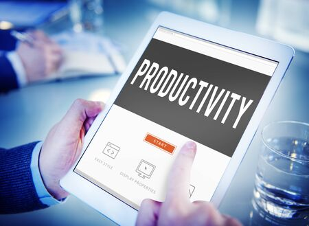 capacity: Productivity Production Capacity Efficiency Concept