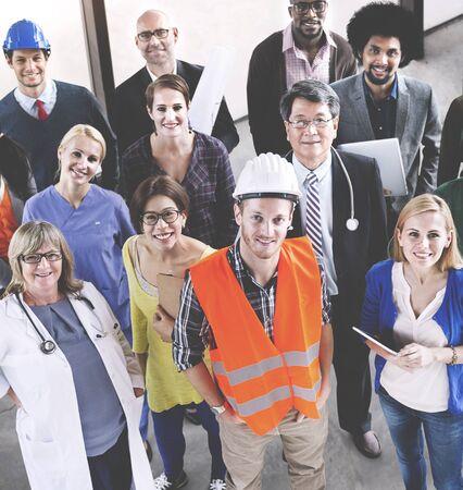 diversidad: La celebración de diversas personas Vaus Empleos Concept