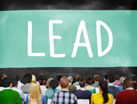 authoritarian: Lead Leadership Director Coach Boss Concept Stock Photo