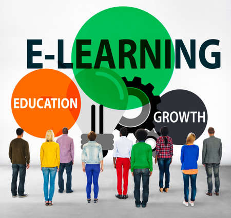 facing backwards: E-learning Education Growth Knowledge Information Concept