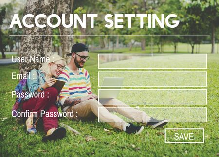 log on: Account Setting Registration Password Log In Privacy Concept