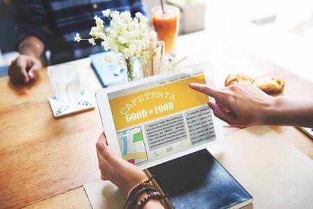 cafe internet: Revisión de concepto de tecnología de la tableta Cafetería Bueno crítico gastronómico