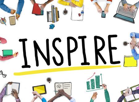 hopeful: Inspire Ideas Creativity Inspiration Imagination Thinking Concept Stock Photo