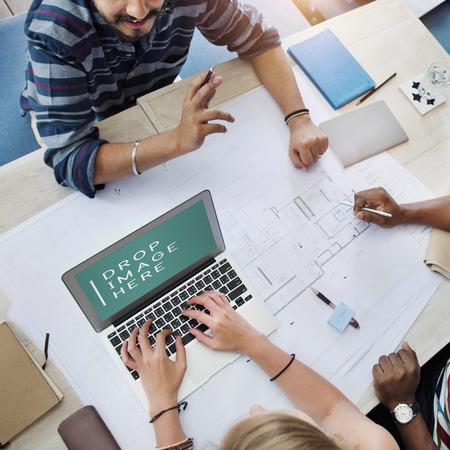 interior designer: Architect Designer Brainstorming Planning Interior Concept