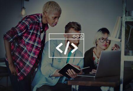 Programing Coding Script Technology Website Program Concept Imagens