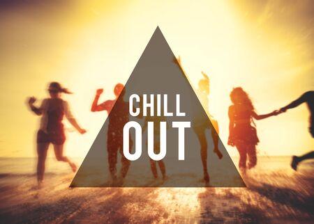 Chill Out Ocio Vinculación Disfrutando Frienship Libertad Concepto