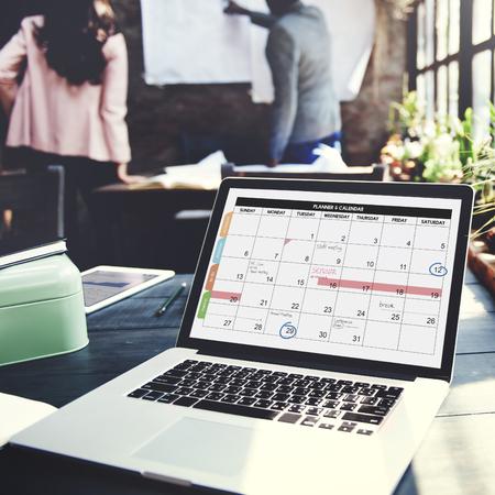 カレンダー プランナー組織管理の概念を思い出させる