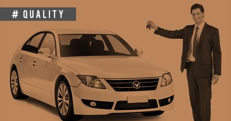 presenter: Car Transportation Vehicle Advertising Presenter Concept
