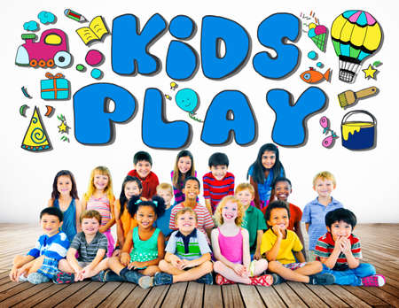 imagination: Kids Play Imagination Hobbies Leisure Games Concept Stock Photo