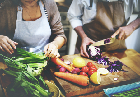chef: Cocinar Preparar comida vegetariana Ingrediente Concept