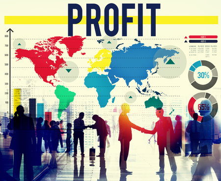 finance concept: Profit Accounting Benefit Earning Finance Concept