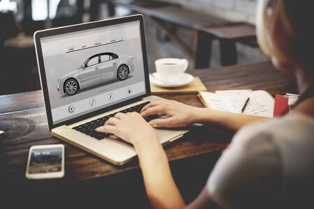 Car Automoblie Transportation Vehicle Elegance Concept Imagens