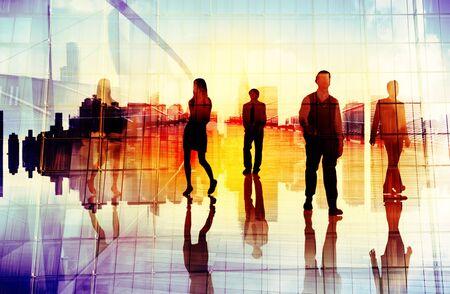 organization: 비즈니스 사람들이 도시 현장 조직 팀 개념