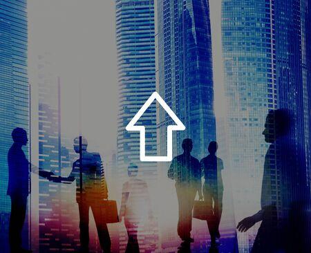businessman walking: Upload Networking Technology Internet Growth Success Concept