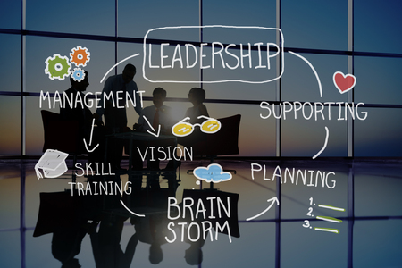 career coach: Leadership Teamwork Management Support Strategy Concept Stock Photo