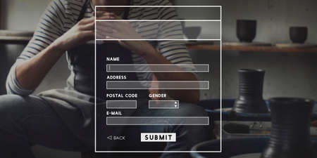 security monitor: Identity Information Internet Monitor Security Submit Concept Stock Photo
