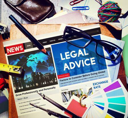 headline: Legal Advice Headline News Feed Concept Stock Photo