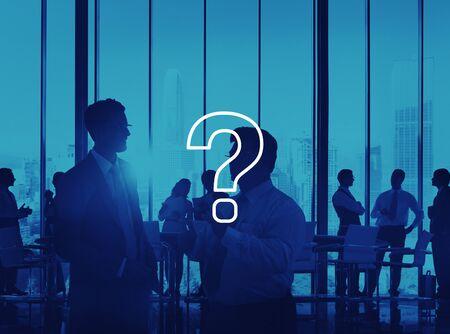 problem solution: Question Mark Icon Solving Problem Solution Concept