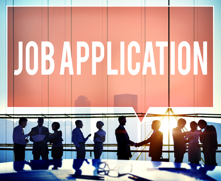 finding employment: Job Application Career Employment Concept Stock Photo