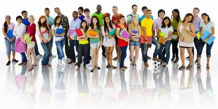 community group: Group of Students Community Togetherness Concept Stock Photo