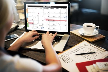 Calender Planner Gestion de l'organisation Remind Concept Banque d'images - 51977953