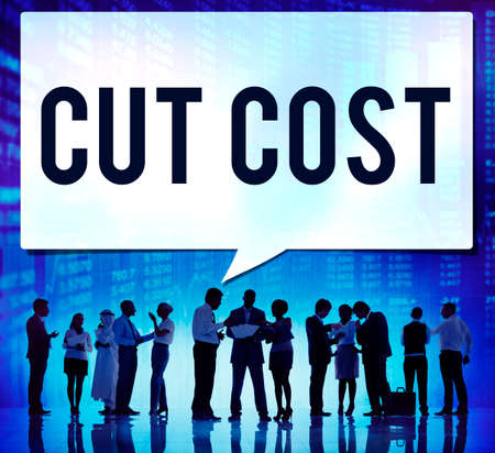 deficit: Cut Cost Reduce Recession Deficit Economy FInance Concept