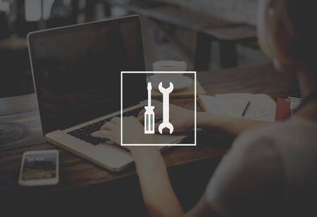 herramientas de mec�nica: Mechanical Tools Equipment Engineering Service Concept