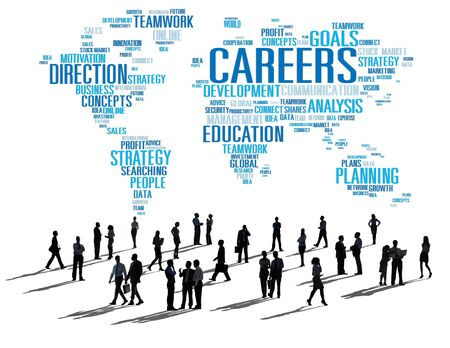 career development: Technology Networking Connection Global Communication Concept Stock Photo