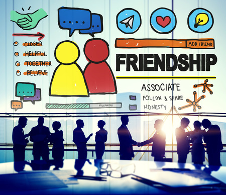 confidant: Friendship Group People Social Media Loyalty Concept