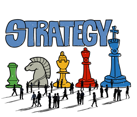 Business people with strategy concept Фото со стока