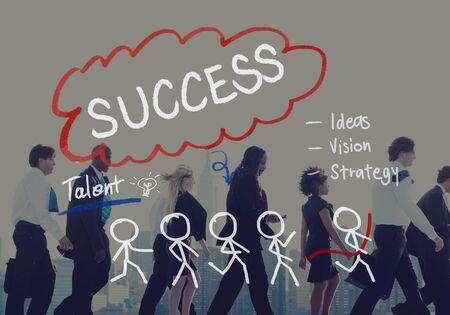 superiority: Success Growth Successful Achievement Accomplishment Concept