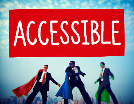 approachable: Accessible Approchable Attainable Available Business Concept Stock Photo