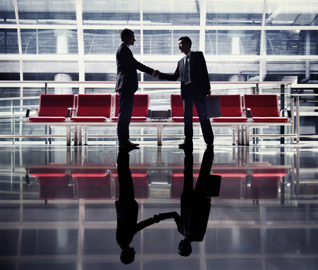 asia business: Businessmen Handshake Contract Greeting Business Concept