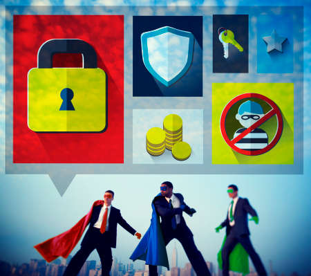 data protection: Security Protection Privacy Password Firewall Concept