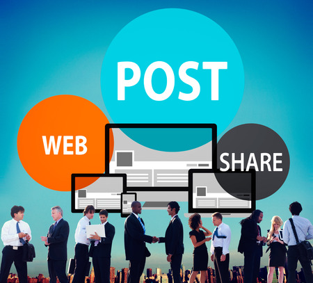 to announce: Post Web Share Announce Reminder List Remember Concept