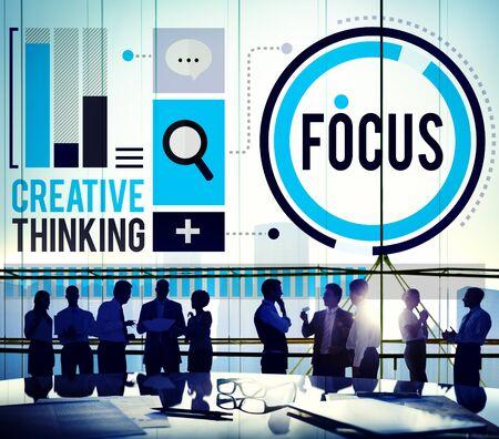 definicion: Focus Concentrate Definition Target Point Concept
