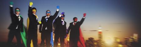 Superhero Businessmen Success Protection Security Concept