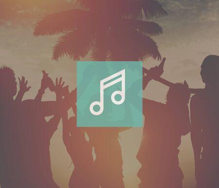 music listening: Music Listening Playing Media Technology Concept