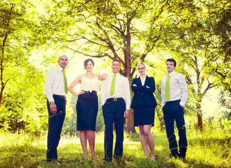 ecofriendly: Green Business Team Corporate Eco-friendly Concept