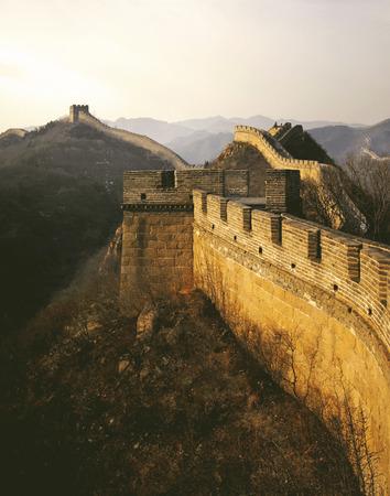 Great Wall China Sunrise Badaling Beijing Tourism Concept