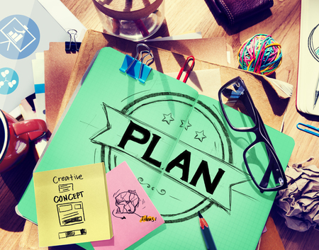 medium group of objects: Plan Planning Strategy Brainstorming Goals Concept