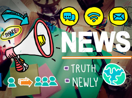communications tools: News Broadcast Information Media Publication Concept